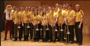 Photo of ASU trombonists